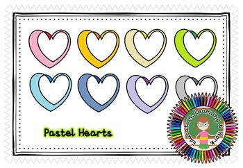 Double Heart Mini Frames Pastel