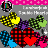 Double Hearts Lumberjack Plaid Clip Art