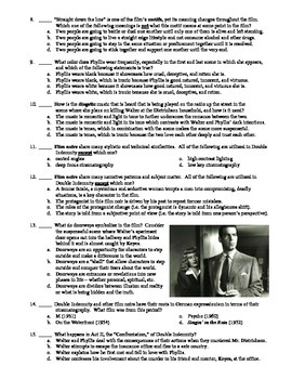 Double Indemnity Film (1944) 15-Question Multiple Choice Quiz