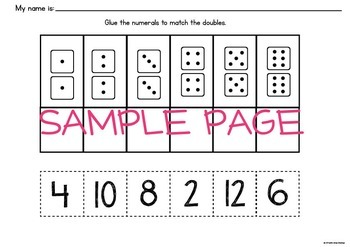 Doubles Facts - Fun Math Center Game for Learning Doubles