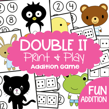 Double It - Math Center Game for Learning Doubles