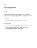 Double Journal Questions Frankenstein Letters and Chapters 1-3