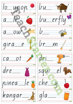Double Letter Cards