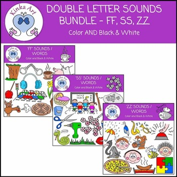 Double Letter Sounds Clip Art Bundle