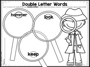 Double Letters: Double Consonants and Double Vowels