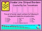 Double Line Striped Border Clipart
