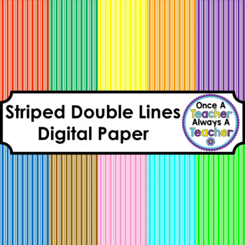Double Line Striped Digital Paper