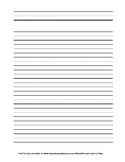 Double Lined Beginner Writing Paper - Portrait Orientation