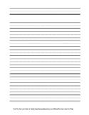 Double Lined Beginner Writing Paper - Portrait Orientation