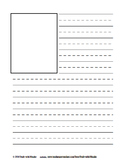 Double Lined Primary Story Paper with pictures - writing