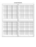 Double Logarithmic Axis Graph Paper - Four per Page