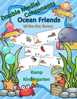 Double Medial Consonants Ocean Friends Write the Room