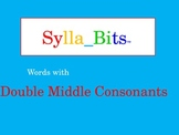 MAP Prep NWEA Reading Double Middle Consonants Syllables Slideshow