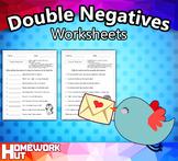 Double Negatives Worksheets