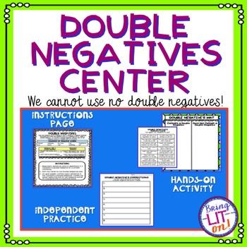 Double Negatives Activity