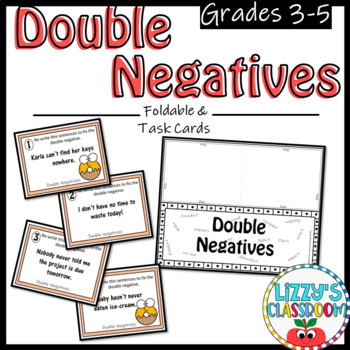 Double Negatives *Foldable & Task Cards*