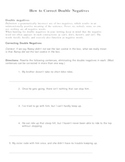 Double Negatives: Notes and Worksheet