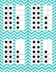 Double Number Frames with dots (11-20) in Aqua Chevron