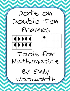 Double Number Frames with dots (11-20) in blank/white background