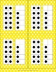 Double Number Frames with dots (11-20) in Yellow Polka Dots