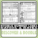Double Number Lines Ratios and Rates Doodle Notes