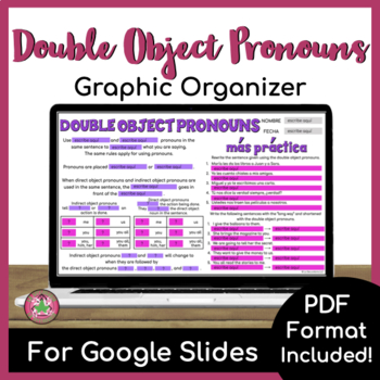 Double Object Pronoun Graphic Organizer