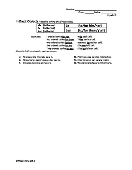 Double Object Pronoun Guided Practice