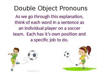 Double Object Pronoun Sports Lesson