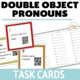 Double Object Pronoun Task Cards BUNDLE - SPANISH