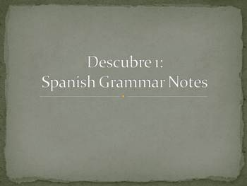 Spanish Double Object Pronouns Grammar Notes