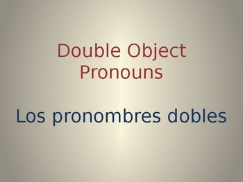Spanish Double Object Pronouns Whiteboard Practice