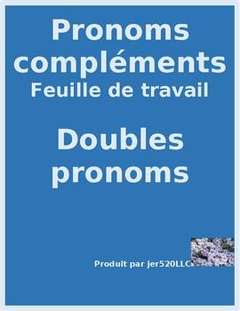 Pronoms compléments Double Object Pronouns French worksheet 5