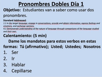 Double Object Pronouns with Commands in Spanish