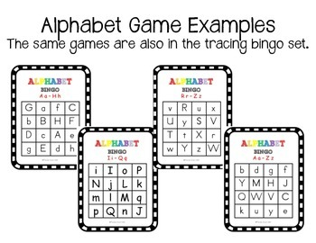 Double Pack of Alphabet Bingo Games - Regular and Tracing (RTI)