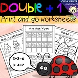 Double Plus One, Near Doubles, Grade One Math Strategy Printables