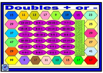 Double Plus or Minus Maths Game