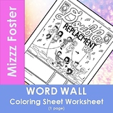 Double Replacement Reaction Word Wall Coloring Sheet (1 pg.)