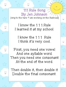 Double Rule Song Poster FREEBIE!