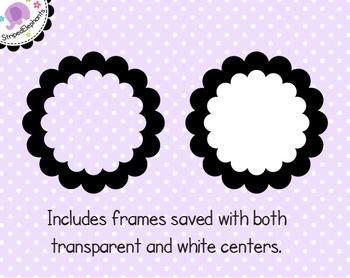 Double Scalloped Digital Frames
