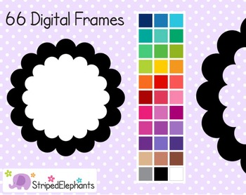 Double Scalloped Digital Frames