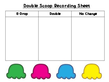 Double Scoop! An Inflected Endings Board Game