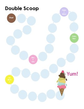 Double Scoop Game Board (Words Their Way) Race to the Ice Cream Cone