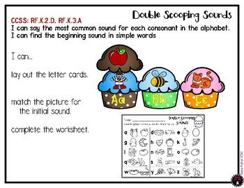 Double Scooping Beginning Sounds Phonics Ice Cream Literacy Center