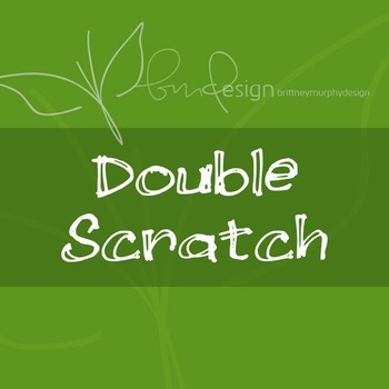 Double Scratch Font for Commercial Use