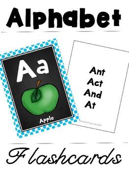 Free Double Sided Alphabet Flashcard
