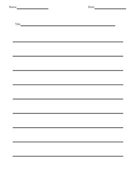 Double Sided Blank Lined Paper