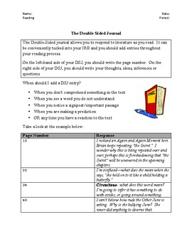 Double-Sided Journal Directions and Sample