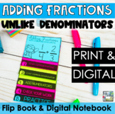 Fractions Mini Flip Book - Adding Fractions with Unlike Denominators