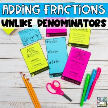 Fractions Mini Flip Book - Adding Fractions with Unlike Denominators