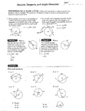 Double Sided Secants Tangents and Angle Measures of Circles Plus Bonus